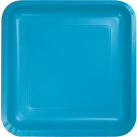 TURQUOISE BLUE DESSERT PLATES