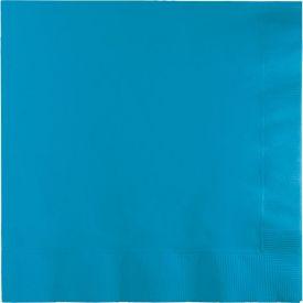 TURQUOISE BLUE DINNER NAPKINS 3-PLY