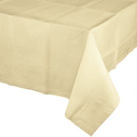 IVORY PAPER TABLECLOTH