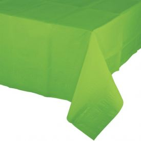 FRESH LIME GREEN PAPER, PLASTIC LINED TABLECOVERS 54