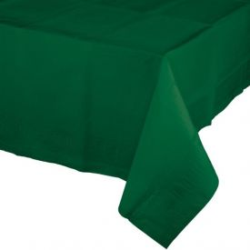 HUNTER GREEN PAPER, PLASTIC LINED TABLECOVERS 54