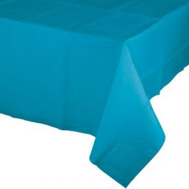 TURQUOISE BLUE PAPER TABLECLOTH
