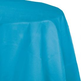 TURQUOISE BLUE OCTY ROUND TABLECLOTH