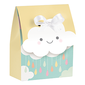 SUNSHINE BABY SHOWER FAVOR BAG W/RIBBON