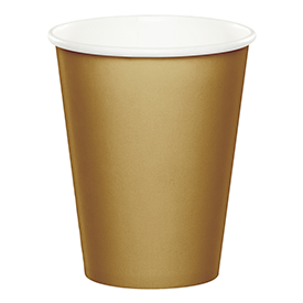 GLITTERING GOLD HOT/COLD CUPS, 9 OZ.