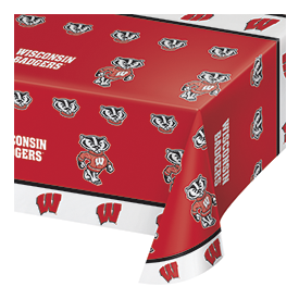 UNIV OF WISCONSIN PLASTIC TABLECOVER