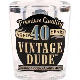 VINTAGE DUDE SHOT GLASS 40