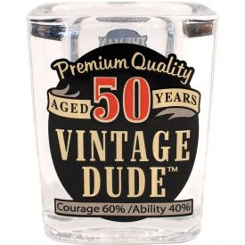 VINTAGE DUDE SHOT GLASS 50