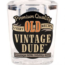 Vintage Dude Shot Glass Old