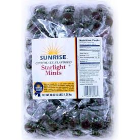 Sunrise Confections Starlight Chocolate Breath Mints - 3lb