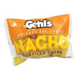 Gehl's Nacho Tortilla Chips w/ Paper Tray - 3oz
