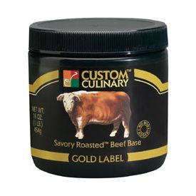 Custom Culinary Savory Roasted Gold Label Beef Base - 20lb