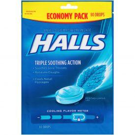 Halls Mentho-Lyptus Drops - 80 ct