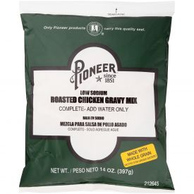 Pioneer Low Sodium Roasted Chicken Gravy Mix - 14oz