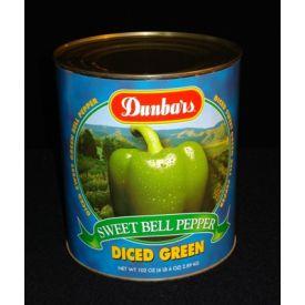 Dunbar Diced Green Sweet Bell Peppers - 102 oz