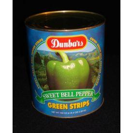 Dunbar Sweet Green Bell Pepper Strips - 102 oz