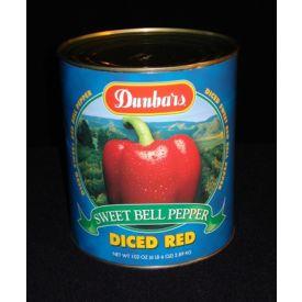Dunbar Diced Sweet Red Bell Peppers - 102oz