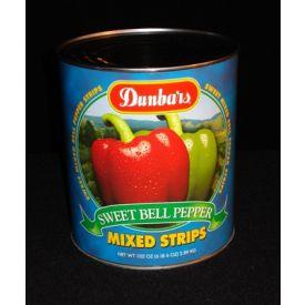 Dunbar Sweet Bell Pepper Mixed Strips - 102oz