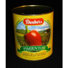 Dunbar Peeled/Diced Pimientos - 102oz