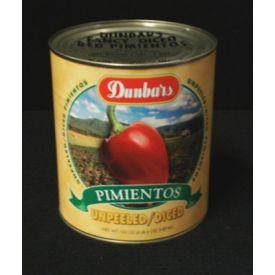 Dunbar Unpeeled/Diced Pimientos - 102oz