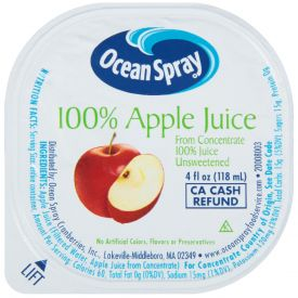 Ocean Spray Apple Juice 4oz.