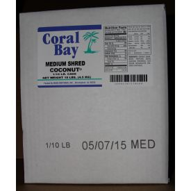 Marx Brothers Coral Bay Medium Shred Coconut 10lb.