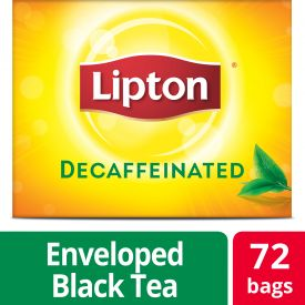 Lipton Black Decaffeinated Individual Tea Bags 100ml.