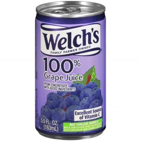 Welch's Purple Grape Juice 5.5oz.