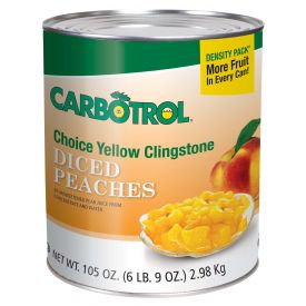 Carbotrol Diced Peach 105oz.