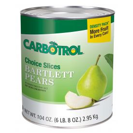 Carbotrol Sliced Pears 104oz.