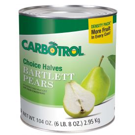 Carbotrol Pear Halves 104oz.