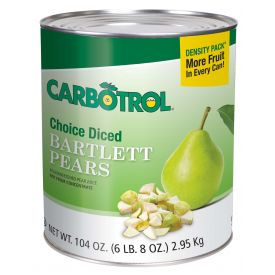 Carbotrol Diced Pear 104oz.