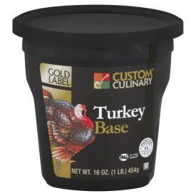 Custom Culinary Gold Label Turkey Base - 1lb