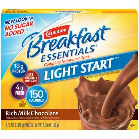 Nestle Carnation Breakfast Chocolate Powder Drink Mix .705oz.