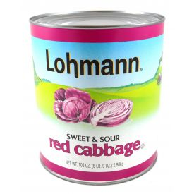 Lohmann Sweet & Sour Red Cabbage - 105oz *