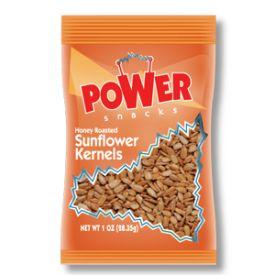 Power Snacks In Shelled Honey Roasted Sunflower Seeds - 1oz