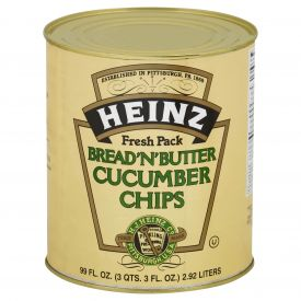 Heinz Bread And Butter Cucumber Chips 99oz.