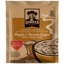 Quaker Maple & Brown Sugar Instant Oatmeal 1.5oz.