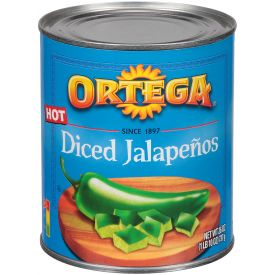 Ortega Diced Jalapenos Peppers - 26oz