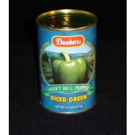 Dunbar Diced Sweet Green Bell Peppers - 14.5oz