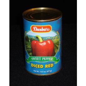 Dunbar Diced Sweet Red Bell Peppers - 14.5oz