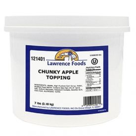 Lawrence Foods Chunky Apple Topping 7lb.