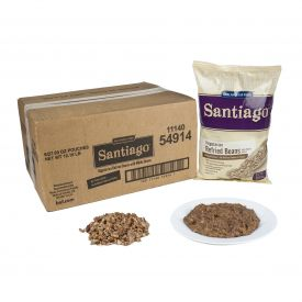 Santiago Vegetarian Refried Beans with Whole Beans Lightly Seasoned 27.09oz.