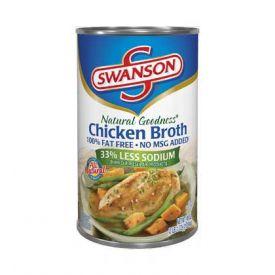 Swanson Chicken Broth - 49 oz cans per case