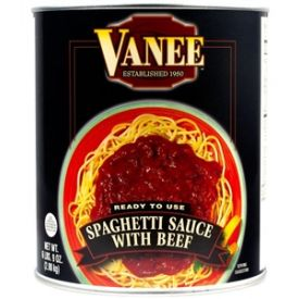 Vanee Spaghetti Sauce With Beef - 105oz