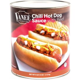 Vanee Chili Hot Dog Sauce With Meat 110oz.