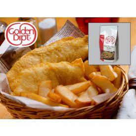 Golden Dipt English Style Fish N Chip Batter 5lb.