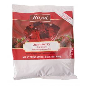 Royal Strawberry Gelatin Mix 24oz.