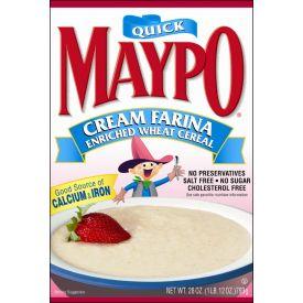 Maypo Quick Cream of Wheat Farina 28oz.