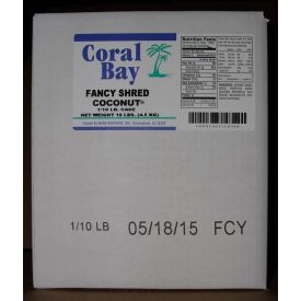 Marx Brothers Coral Bay Fancy Shred Coconut 10lb.